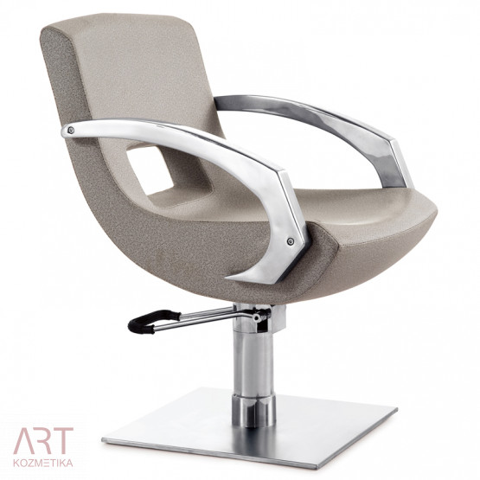 Frizerski stol - AS 0587a - siv