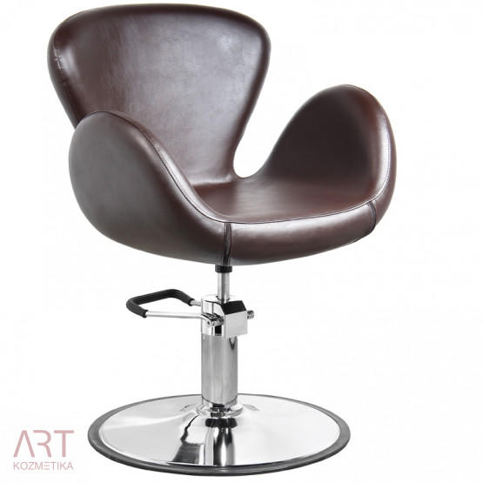 Frizerski stol - AS 2400a - rjava