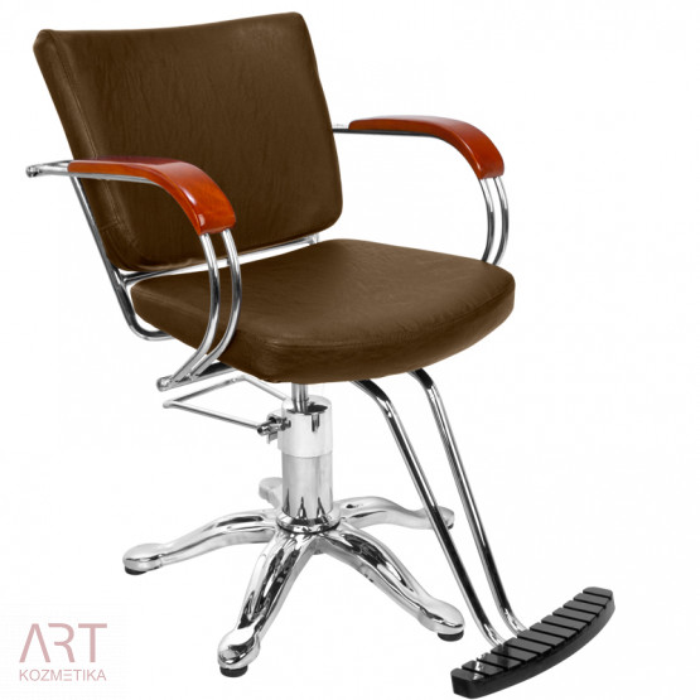 Frizerski stol - AS 9538a - rjav