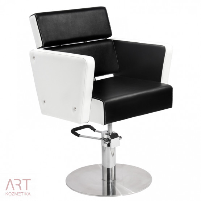 Frizerski stol - AS 1427a - bela črna