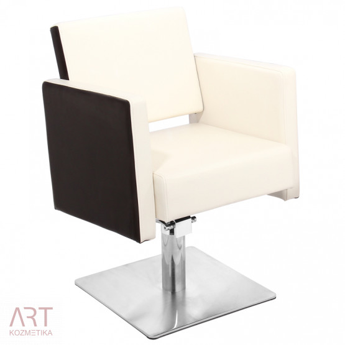 Frizerski stol - AS 1432a - bež črn