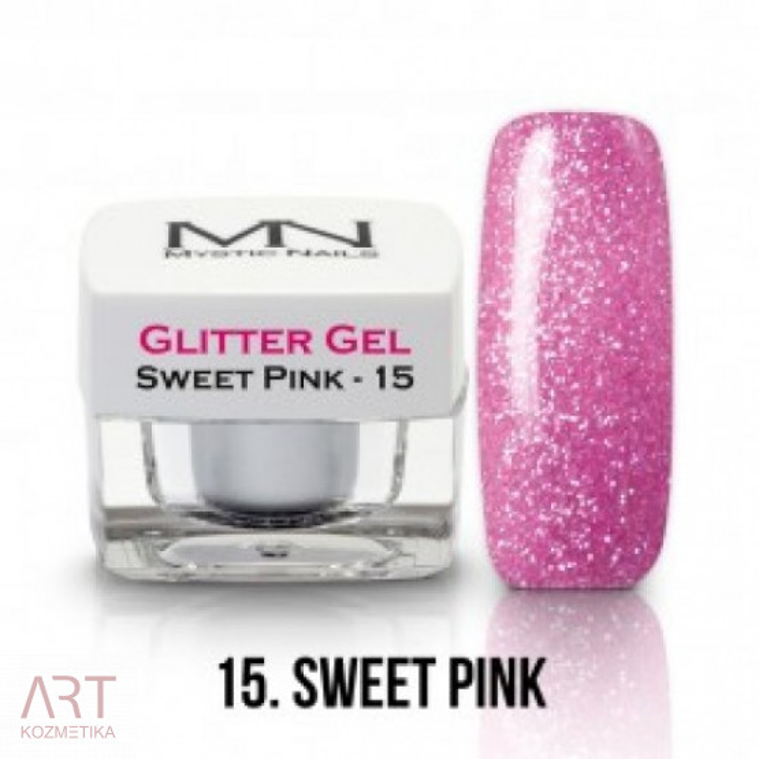 VT - MN Glitter gel - 15 Sweet Pink 4g