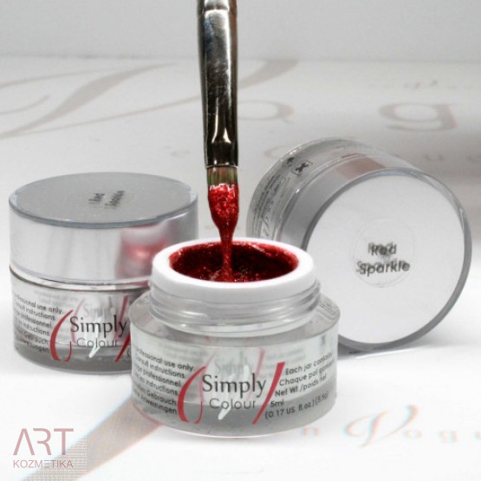VT - SIMPLY Colour Gel Red Sparkle 5ml