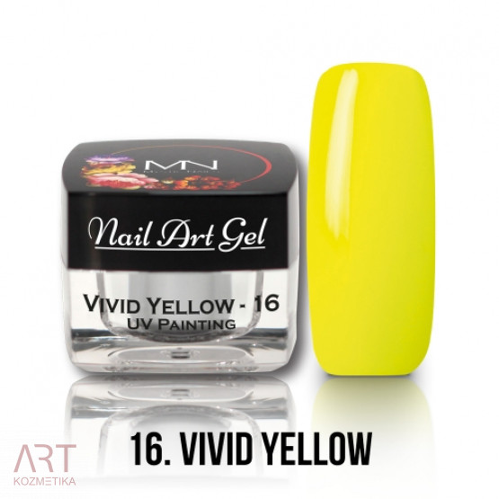 VT - Mystic Nails UV Painting Nail Art Gel 16 Vivid Yellow 4g