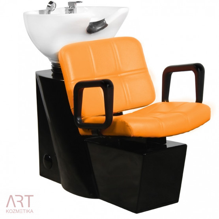 Frizerski umivalnik modernega izgleda AS 0604a | oranžen