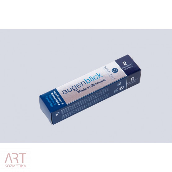 BERRYWELL® barva za trepalnice in obrvi 15ml - modrikasto črna | št. 2