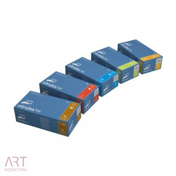 Rokavice nitril, brez pudra, modre, velikost: XS, 1/200