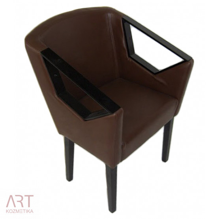 Stol za čakalnico za frizerski salon Metallic