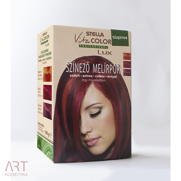 VitaColor barva za pramena - posvetlitveni prah za barvanje 100g | Svetlo bakrena