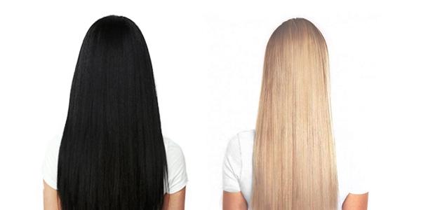 Črni lasje v blond