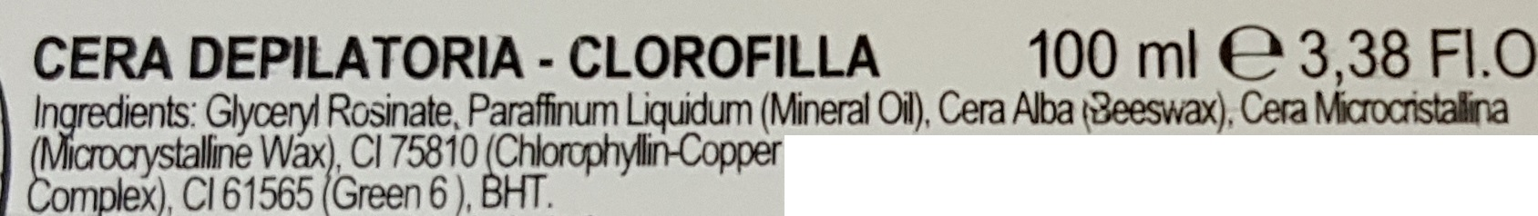 cera depilatoria clorofilla
