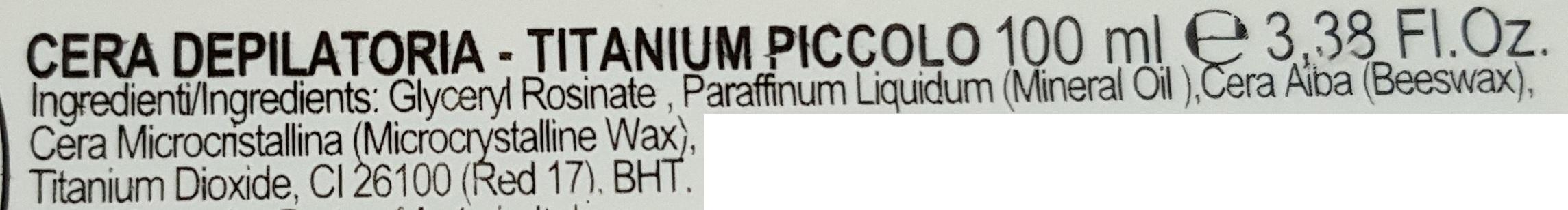 cera depilatoria titanium