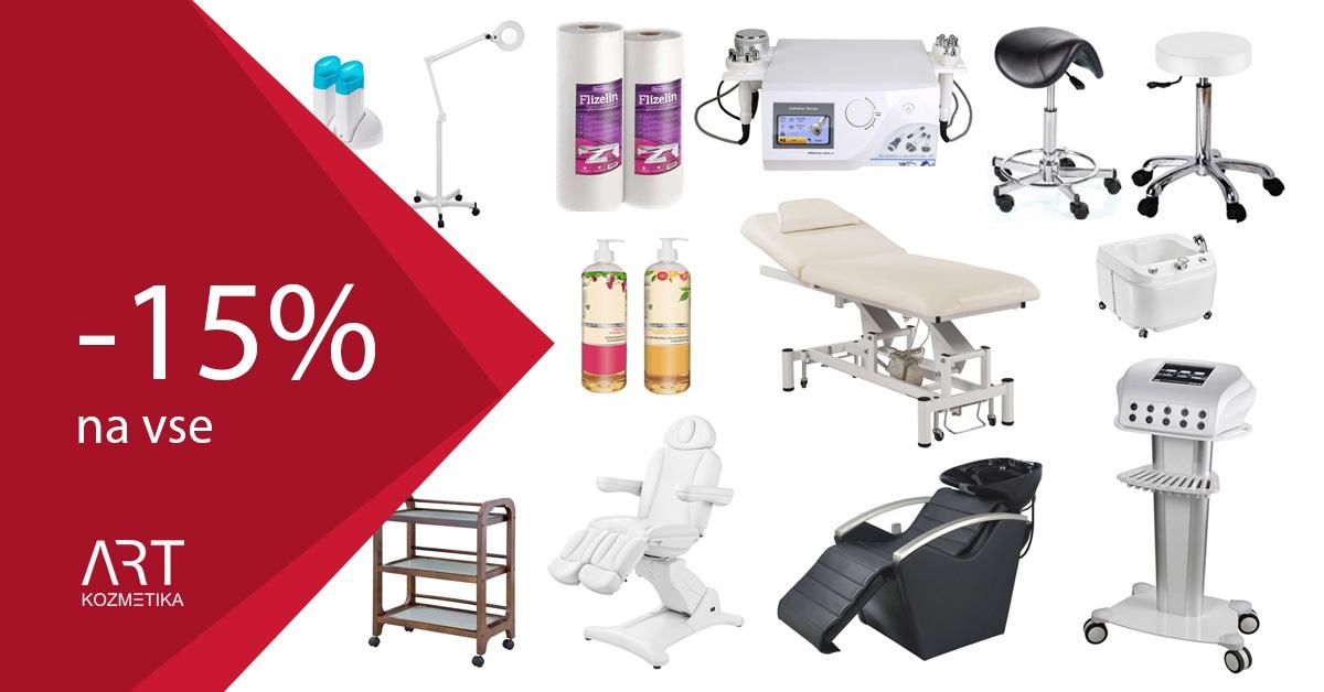 15% popust na kozmetično in frizersko opremo