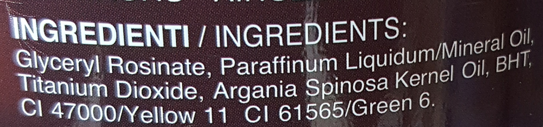 vosek v posodi arganovo olje